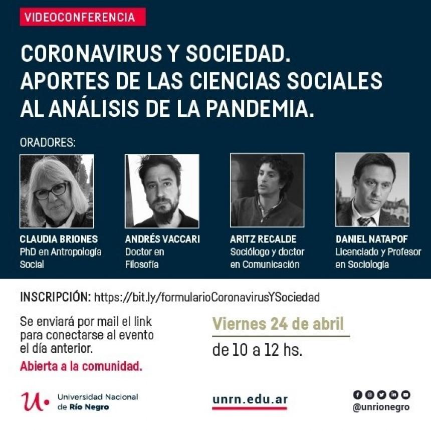 #Coronavirus: la UNRN invita a una videoconferencia con participación libre y gratuita